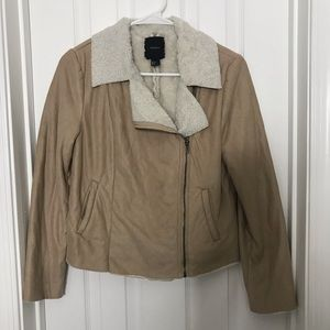 Sherpa Tan Side Zipper Forever 21 Jacket